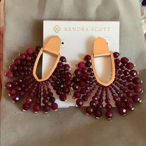 Kendra Scott Diane beaded rose gold earrin…